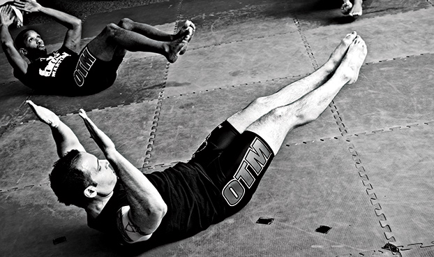 How to enhance core strength for kickboxing.