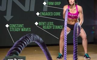 Form at a Glance: Battle Rope Alternating Wave