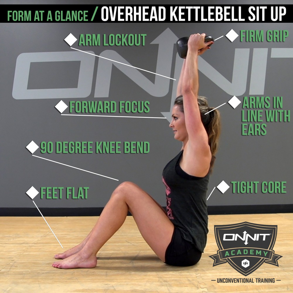 Form at a Glance: Overhead Kettlebell Sit Up | Onnit Academy