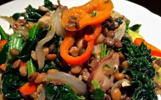 Onnit Recipe: Warm Herb Lentil Salad with Wilted Kale