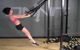 Battle Ring Suspension Jump Squat