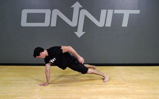 Bodyweight Exercise: Deck Squat to 1-Hand Sprawl