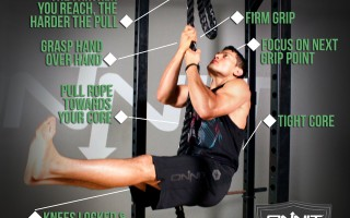 Exercise Tips: How to do the L-Sit Rope Climb