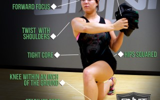 How to do the Lunge & Twist Sandbag Exercise