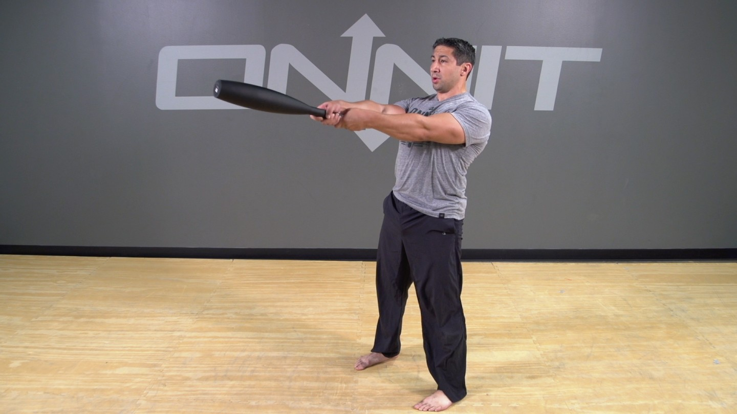 Steel Club Exercise: 2-Hand Front Swing