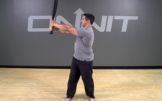 Steel Club Exercise: Alternating Side Press