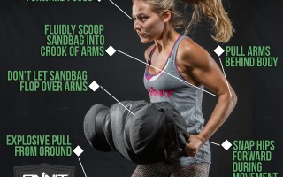 Key exercise tips for the Sandbag Zercher Clean Exercise
