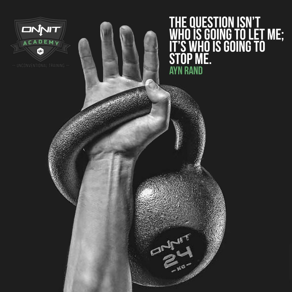 The question isn't who is going to let me; it's who is going to stop me. –Ayn Rand