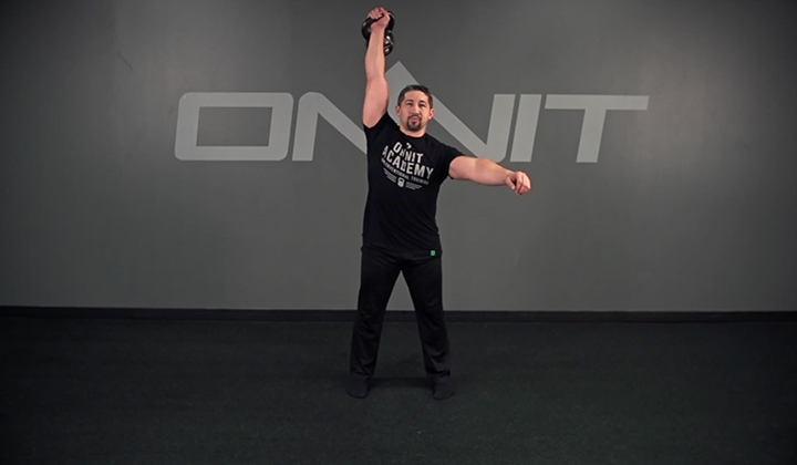 Kettlebell Exercise: 1-Arm Swing Snatch