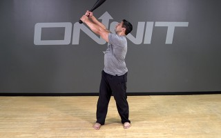Steel Club Exercise: 2-Hand Side Angled Snatch