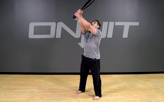 Steel Club Exercise: 2-Hand Angled Snatch