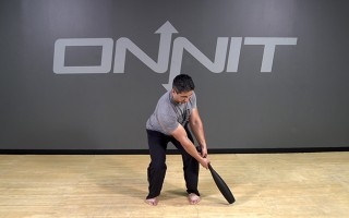Steel Club Exercise: 2-Hand Lateral Sit & Drive
