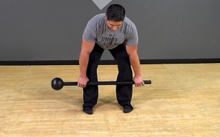 Steel Mace Exercise: 2-Hand Deadlift (Stability Focus)