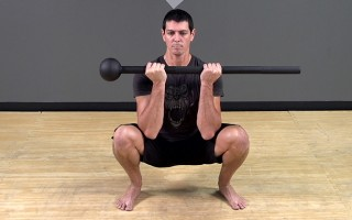 Steel Mace Exercise: Curl Grip Squat
