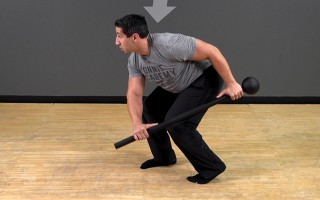 Steel Mace Exercise: Staggered Paddle Swing