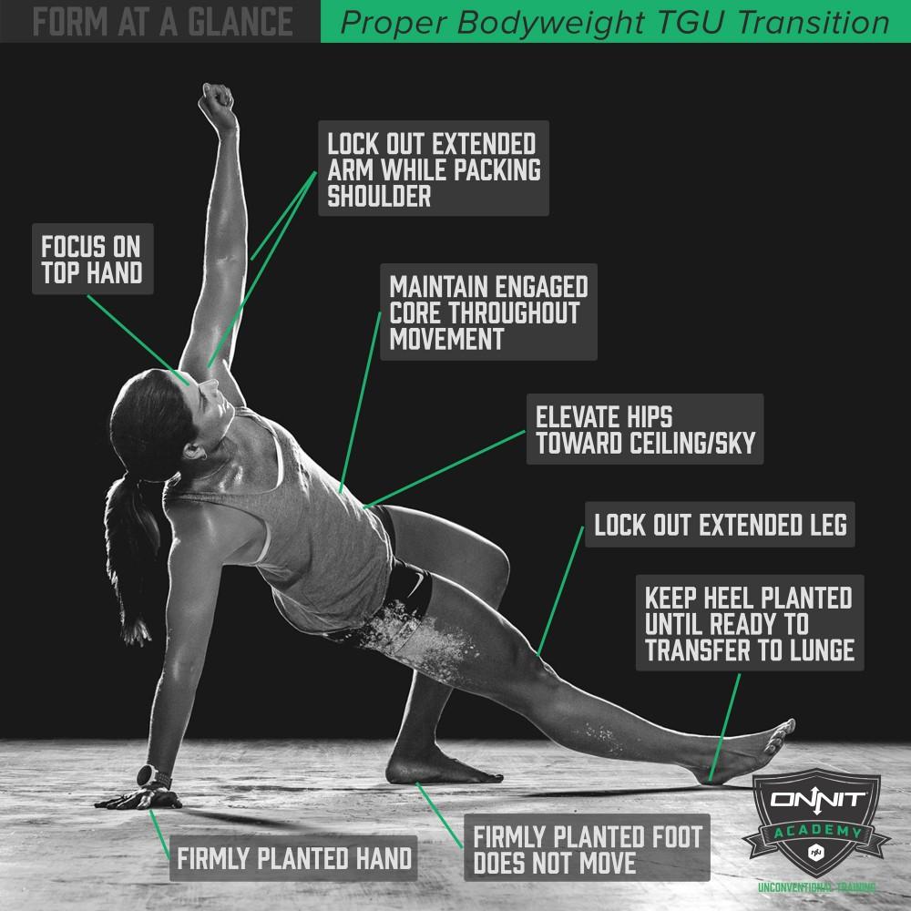 Katy Freshour demonstrates the Bodyweight TGU