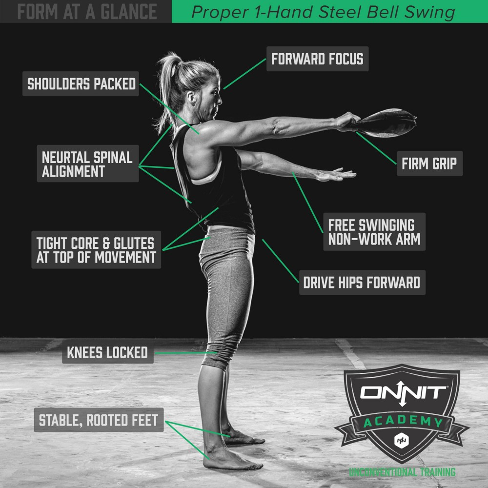 Form At A Glance 1 Hand Steel Bell Swing Onnit Academy