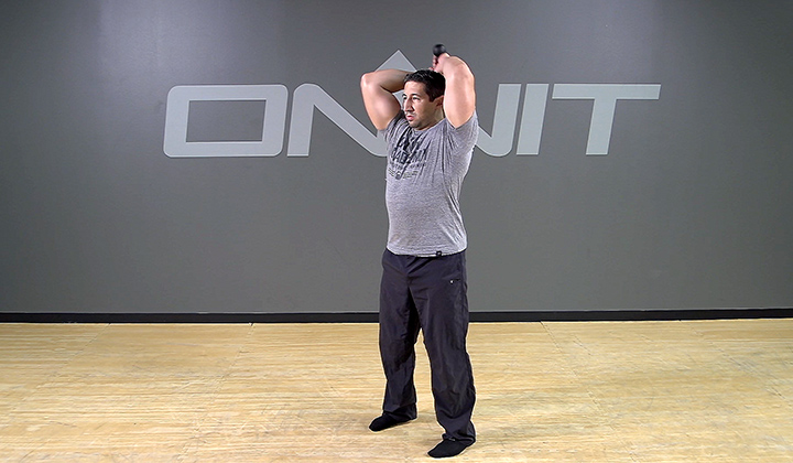 Steel Club Exercise: Alternating Pullover