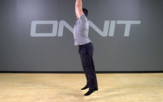 Bodyweight Exercise: Arm Swing Jump