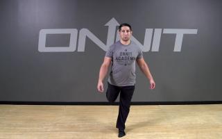 Standing Leg Swing Bodyweight Exercise