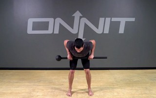Bent Over Row Steel Mace Exercise