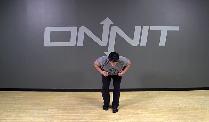 Staggered Stance Hinge Bodyweight Exercise