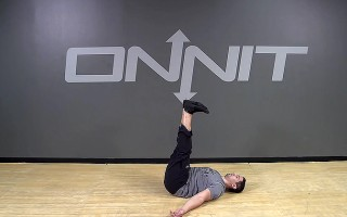 Lying L-Sit Bodyweight Exercise