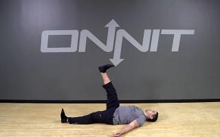 Lying Active Straight Leg Raise Bodyweight Exercise