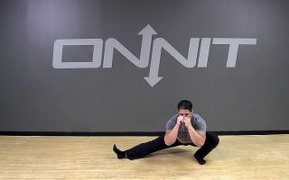 Alternating Cossack Squat Bodyweight Exercise