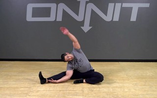 Half Butterfly Lat Stretch Bodyweight Exercise