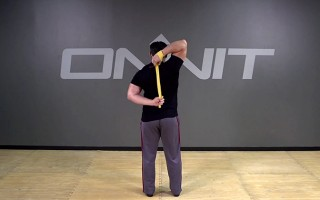 Band Resisted Zipper Stretch Bodyweight Exercise
