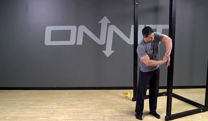 Internal Rotation Wall Stretch Bodyweight Exercise