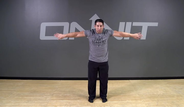 Double lnternal/External Shoulder Rotations Bodyweight Exercise