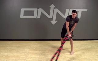 Rainbow Battle Ropes Exercise