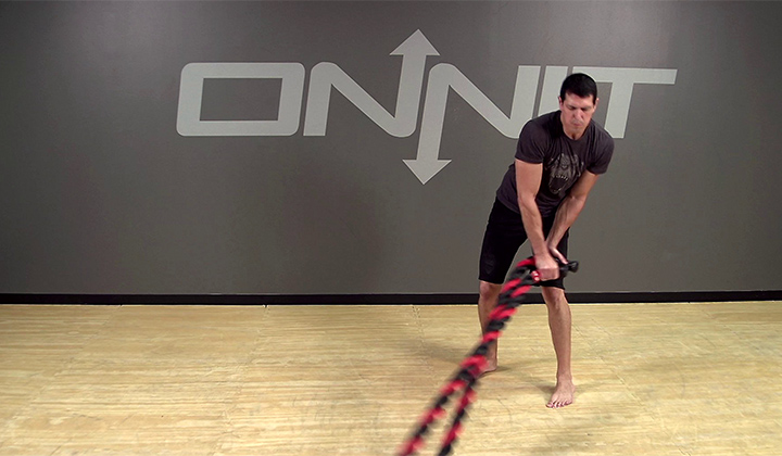 Rainbow Battle Ropes Exercise