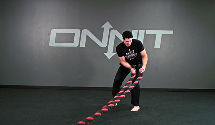 Diagonal Pull Battle Ropes Exercise