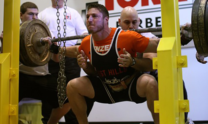 Casey Willaims Performing the Back Squat