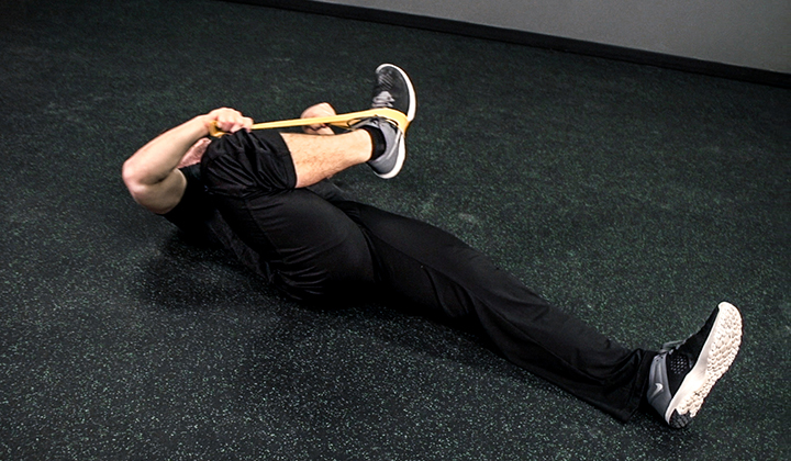 Resistance Band Exercise #5: Lying Glute Extension