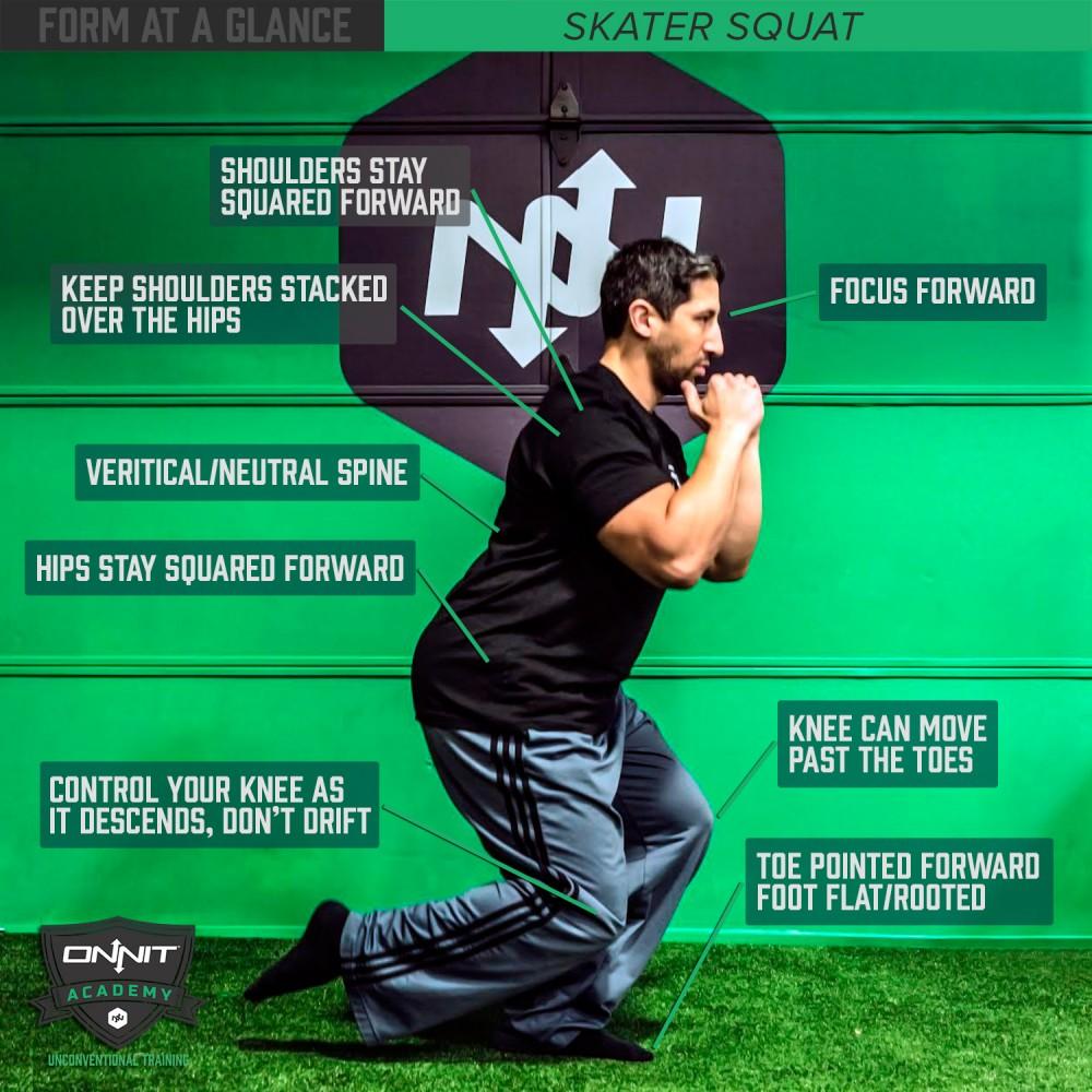 Form at a Glance: Skater Squat