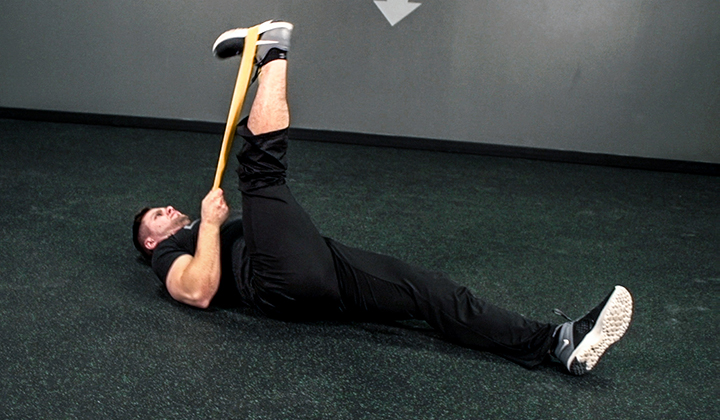 Resistance Band Exercise #3: Lying Knee Extension