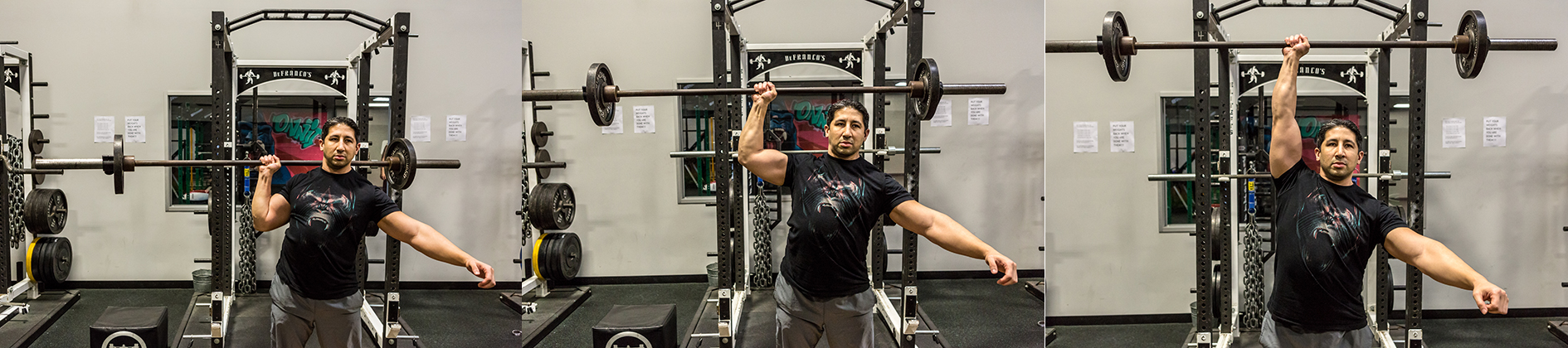 1-Arm Barbell Press