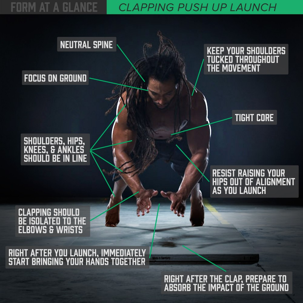 Form at a Glance: Clapping Push Up Launch