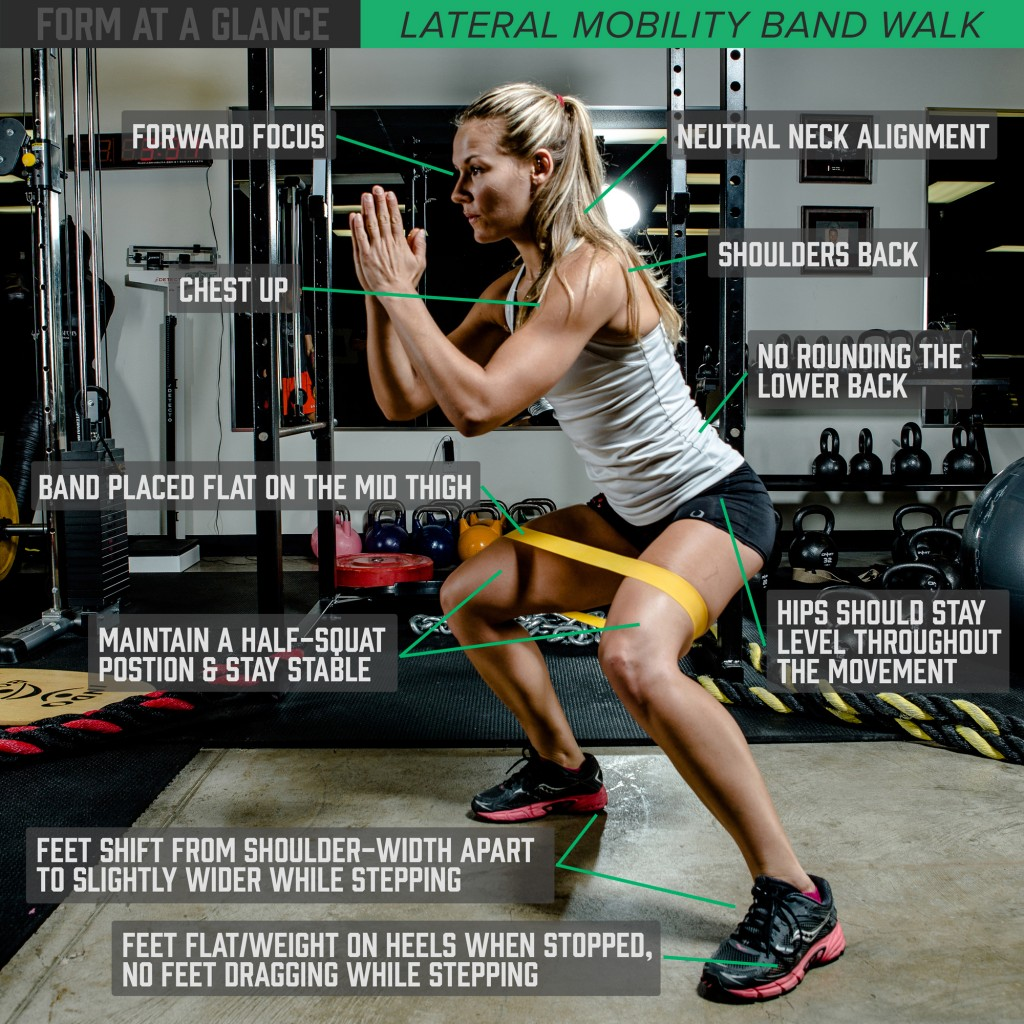 Form at a Glance: Lateral Mobility Band Walk