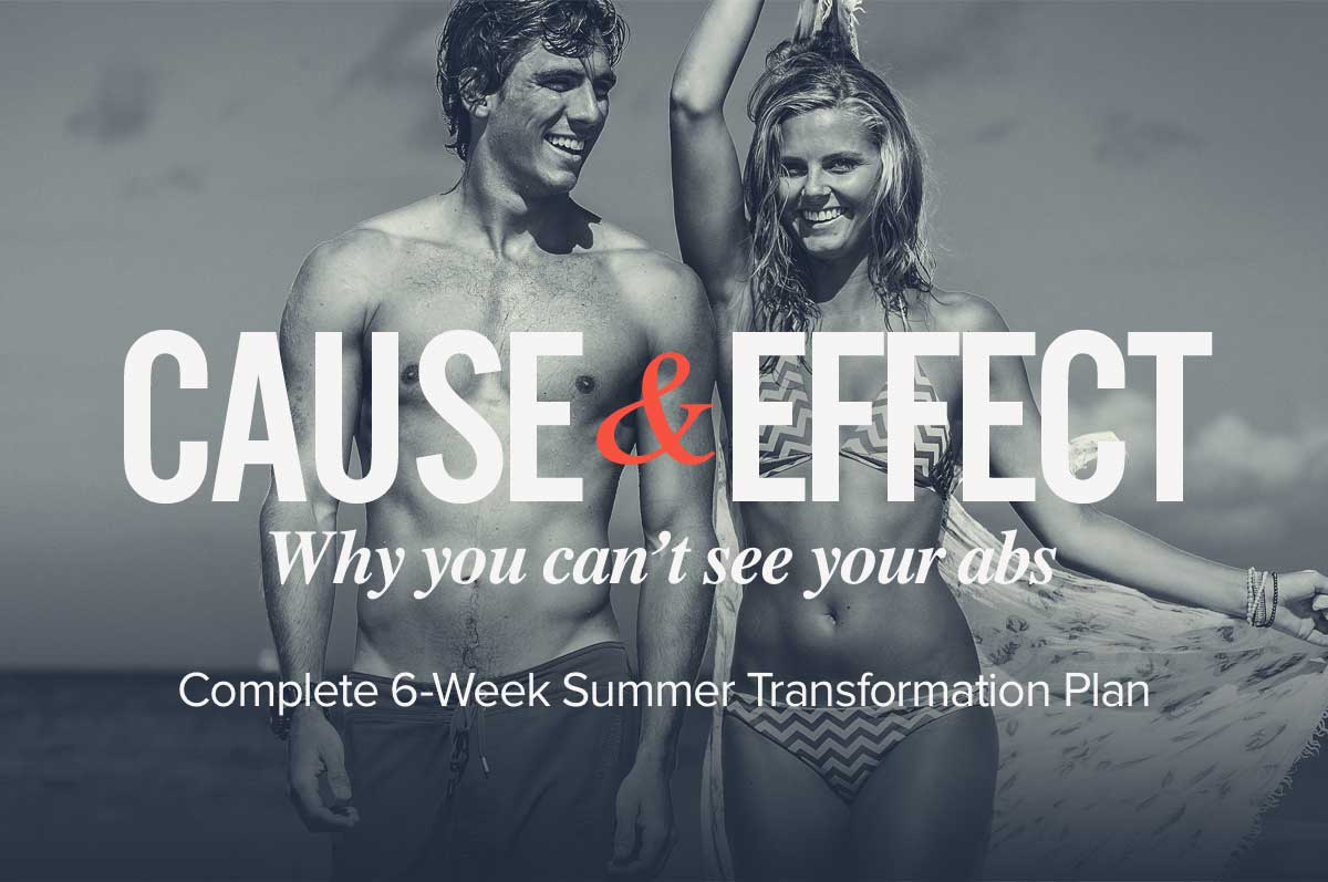 Cause & Effect: Why You Can't See Your Abs + 6 Week Transformation Plan