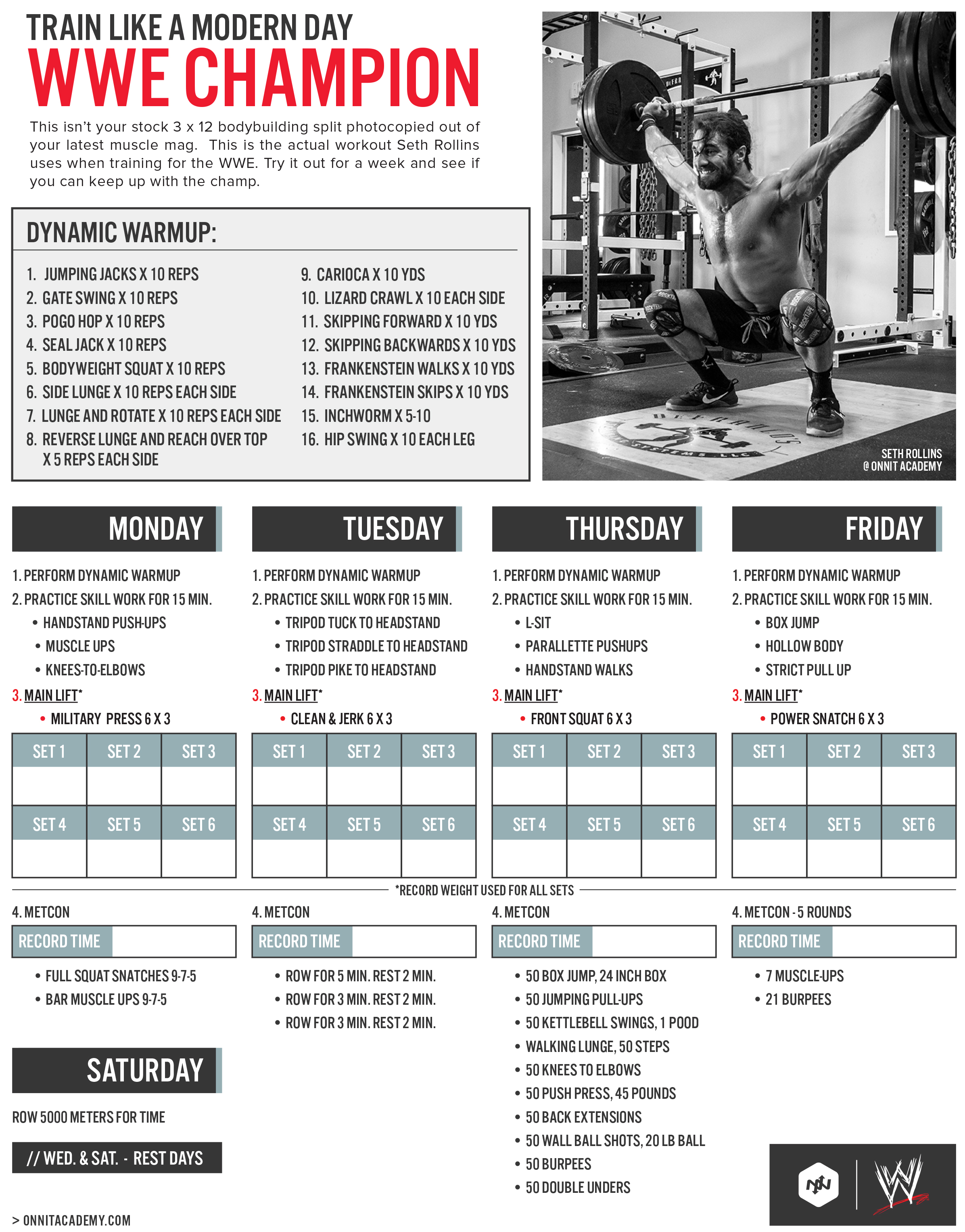 Train Like A Modern WWE Champion: Official Seth Rollins Workout ...