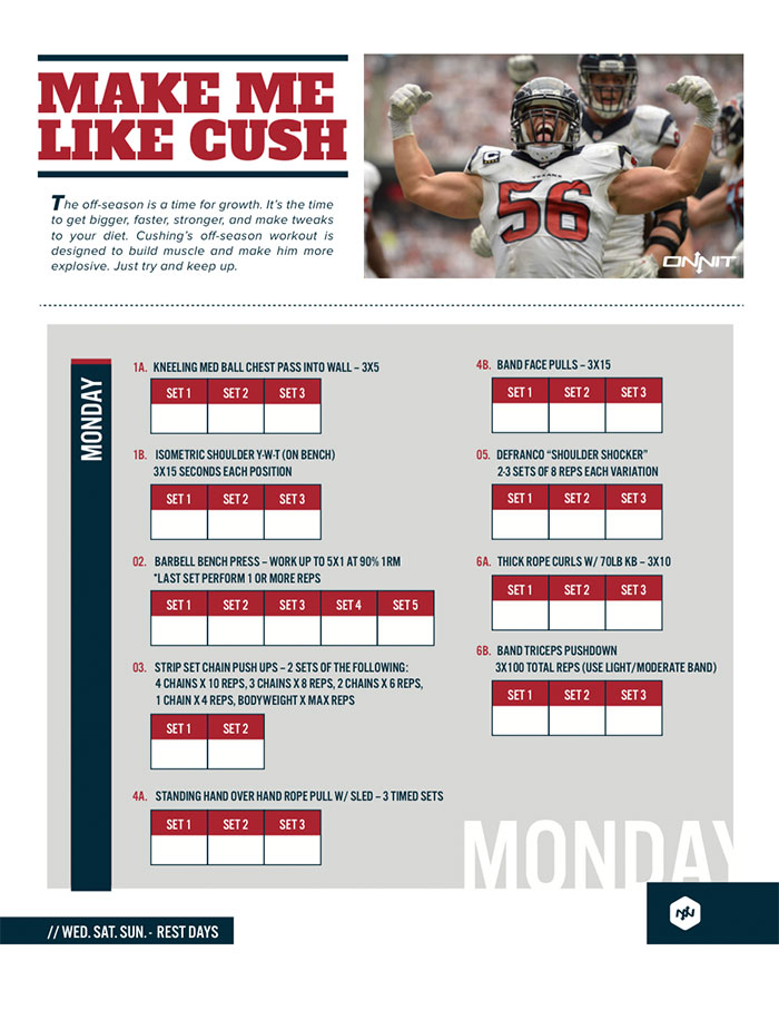 Train Like An NFL Linebacker: Brian Cushing Workout