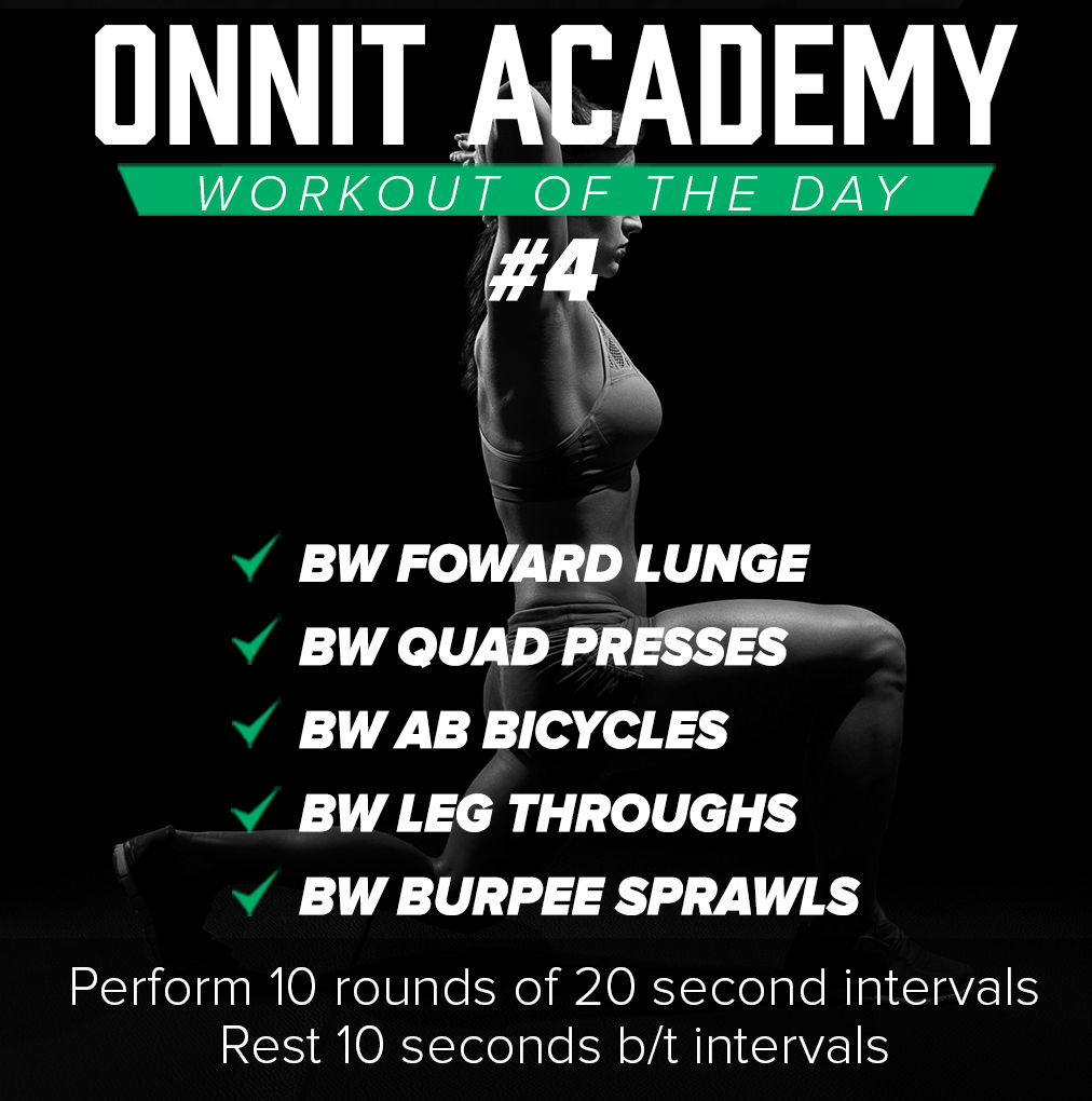 Onnit Academy Workout of The Day: #4 - 10.29.15