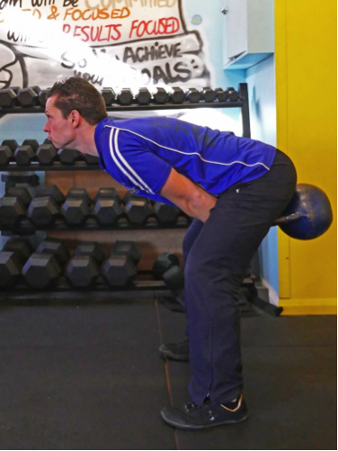 The Kettlebell Swing with the Neck Hyperextended