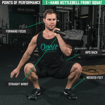 Points of Performance: 1-Hand Kettlebell Front Squat
