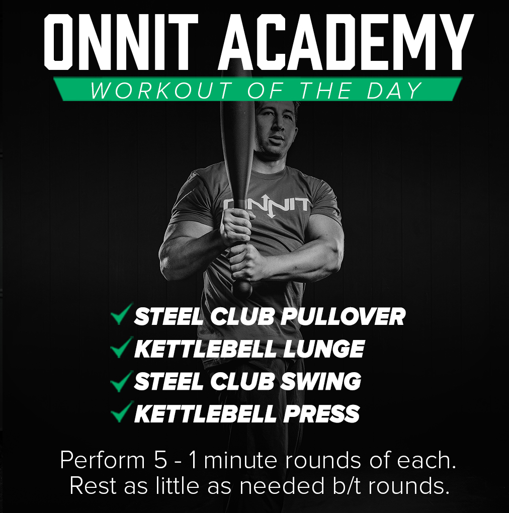 Onnit Academy Workout of The Day #18 - Steel Club & Kettlebell Workout
